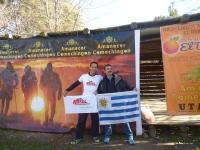 Con un amigo y corredor Jorge Xavier.